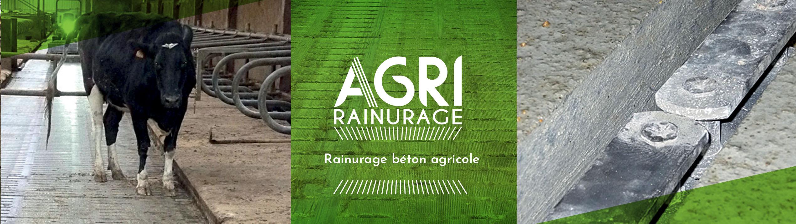 Rainurage béton agricole
